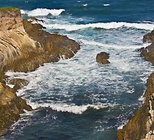 rocky inlet at Montana de Oro by David Chesluk