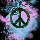 Blue/Pink Peace Sign Collage Case by Jenifer Jenkins