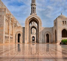 Reflections at Sultan Qaboos Grand Mosque by joeborg1