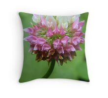 Red Clover: Pink and White Variation Throw Pillow
