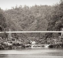 bridge across cataract gorge by aurelie k