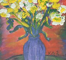 Impressionistic vase of flowers  by kreativekate