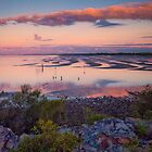 The Magic Hour Shornecliffe Mudflats Brisbane Australia by PhotoJoJo
