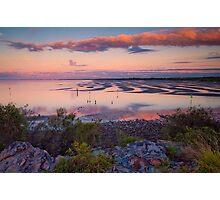 The Magic Hour Shornecliffe Mudflats Brisbane Australia Photographic Print