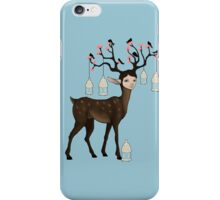 The Happy Springtime Deer! iPhone Case/Skin