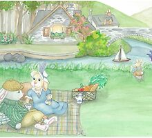 BUNNY PICNIC by Lynn Wright