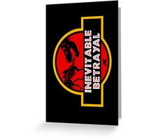 Jurassic Betrayal Greeting Card