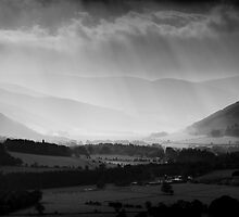 Sunlight Through the Clouds, Taken from Glentress, Scottish Borders by Iain MacLean