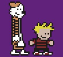 Calvin And Hobbes 8-Bit by chrisbarton303