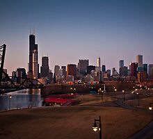 Chicago Skyline by cyasick
