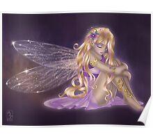 Melancholy purple fairy Poster