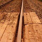 Railroad at Dawn by Emily Barnes