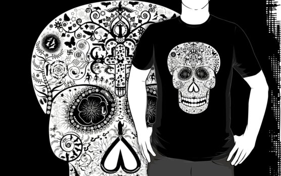DEATH SKULL (REVERSED OUT DESIGN) by Shane  Luskie