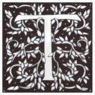 William Morris Inspired Letter T Sticker by Donnahuntriss