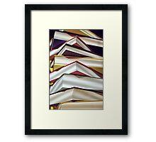 A Pile of Books Framed Print