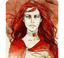 Melisandre_iPhone case by elia, illustration