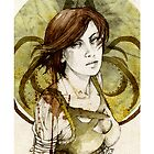 Asha Greyjoy_iPhone case by Elia Mervi