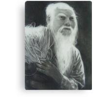 Old Man Fishing Canvas Print