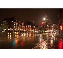 Queen And Soho On A Rainy Night Photographic Print