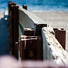 Criccieth beach Groins. by lendale