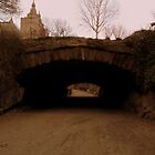 Central Park. Riftstone Bridge. by Amanda Vontobel Photography