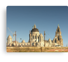 Three Graces in the Morning Light, Liverpool Waterfront Canvas Print