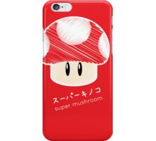 super mushroom -scribble- iPhone Case/Skin