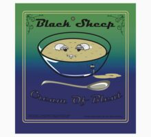 Black sheep Cream Of Bleat Sticker by Chefleclef