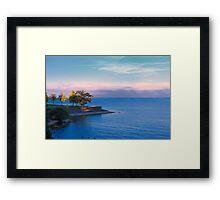night over the lake Framed Print