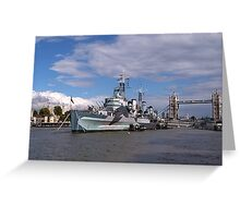 HMS Belfast Greeting Card