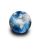 World globe iPhone cover by sjorskorremans
