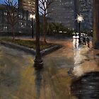Haymarket in the Rain by Karen Strangfeld