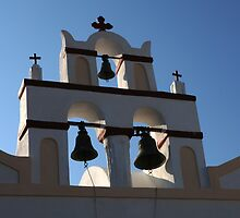 Belltower Santorini Greeece by Bob Christopher