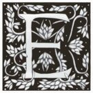 William Morris Letter E Sticker by Donna Huntriss