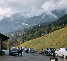 Down the valley from Grindelwald 1957 09220037 by Fred Mitchell
