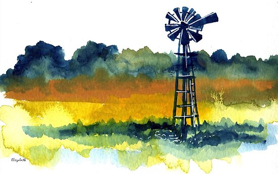 A lonely windmill by Elizabeth Kendall