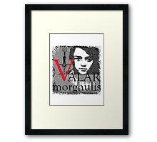 Arya Valar Morghulis Framed Print
