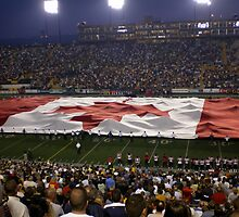 Canadian flag at Hamilton Tiger Cat game by logonfire