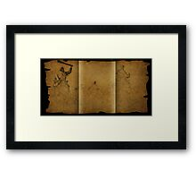 Parchment scam Framed Print