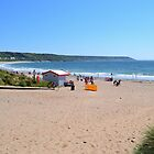 Port Eynon Bay by Paula J James
