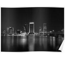 Jacksonville Landing at Night Poster