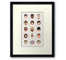 70s Movie Dudes Framed Print