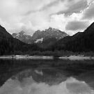 Kranjska Gora in black and white by Ian Middleton
