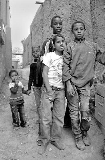 Kids in Tinerhir Morocco by Debbie Pinard