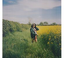 Rapeseed Field Portrait Photographic Print