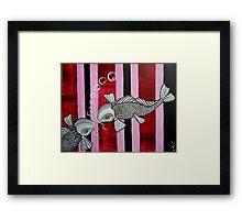2 Koi Fish In Love Framed Print