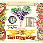 Love Certificate by Giora Eshkol