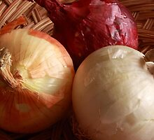 Red, White and Yellow Onions by Robert Armendariz