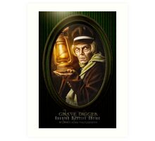 Grave Digger Framed Portrait, Haunted Mansion Series by Topher Adam The Dark Noveler Art Print