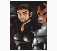 Mass Effect Shepard and Mordin by Carter478